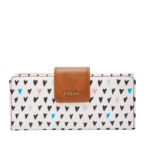 Fossil Madison Slim Clutch Swl1950745 Color: Hearts Wallet