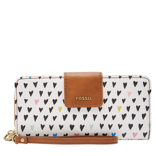 Fossil Madison Zip Clutch Swl1951745 Color: Hearts Wallet