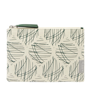 Krista Coated Canvas Zip Travel Pouch
