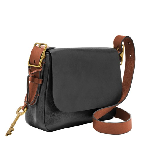 Fossil Harper Small Saddle Crossbody Zb6759200 Color: Brown