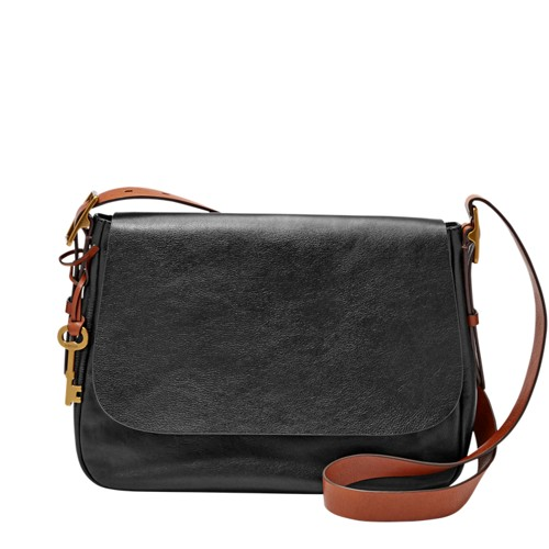 Fossil Harper Large Saddle Crossbody Zb6760001 Color: Black