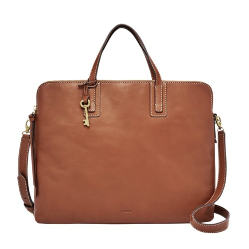 Fossil Emma Laptop Bag Zb6966200 Color: Brown