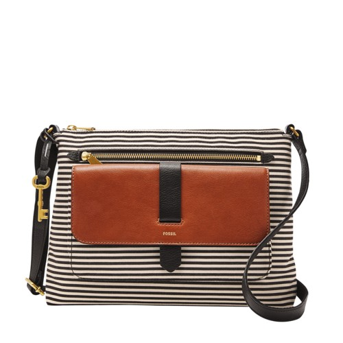 Fossil Kinley Crossbody Zb7227080 Color: Black Stripe