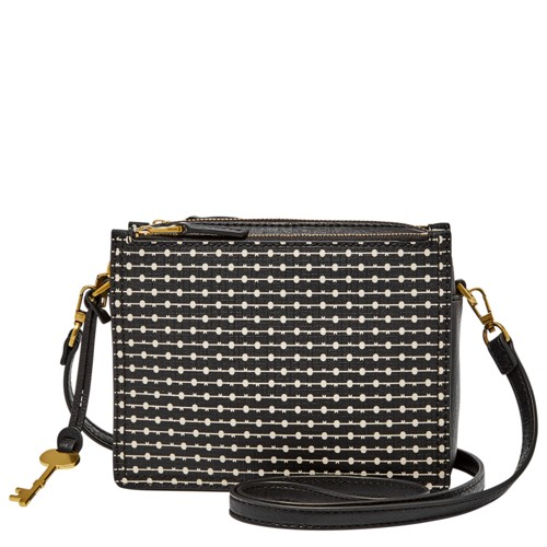 Fossil Campbell Crossbody Zb7265080 Color: Black Stripe