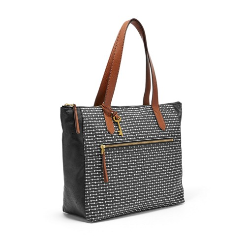 Fossil Fiona Ew Tote Zb7485727 Color: Grey/White