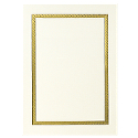 Vertical Gold Border Photo Mount