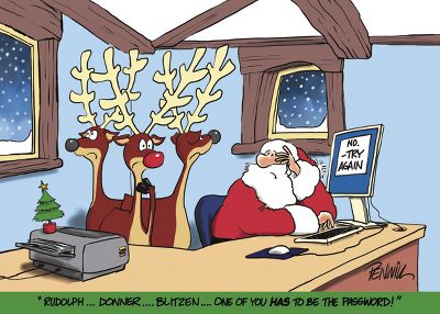 Five funny christmas cards for business holiday cards unlimited blog absent minded santa colourmoves