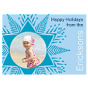 Light Blue Snowflake Photo Card