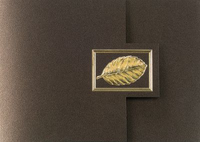 Tri-Fold Gold Leaf Thanksgiving Greeting Card