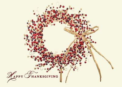 Happy Thanksgiving Wreath Greeting Card