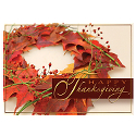 Vibrant Fall Leaves Thanksgiving Wreath
