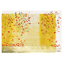 Gold Foil Thanksgiving Wrap