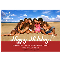 Happy Holidays Red Border Photo Card