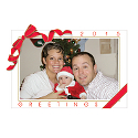 Red Ribbon Photo Frame Calendar