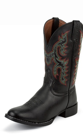 Justin Boots Farm And Ranch Black Cowhide