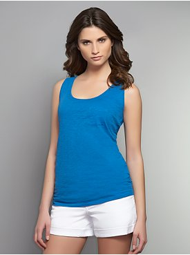 Scoop-Neck Tank with Front Pocket