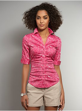 The Madison Etched Floral-Print Shirt