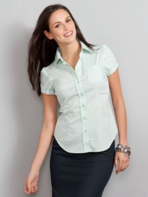 Women's The Madison Stretch Shirt Short Sleeve Stripe