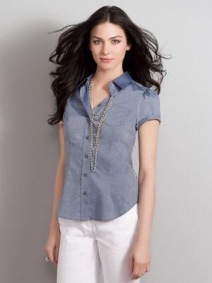 Women's The Madison Shirt Short Sleeve Cotton