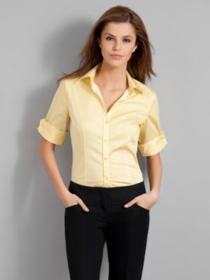 City Stretch Check French Cuff Shirt