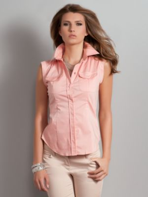 Women's The Madison Shirt Sleeveless Safari