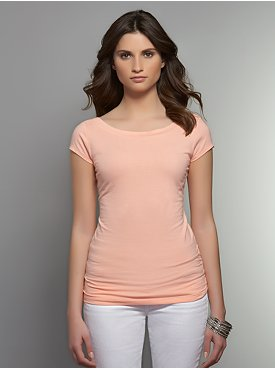 Solid Ballet-Neck Tee