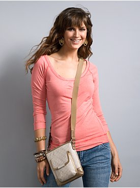 New York & Company: City Style Striped Scoop Neck Top from nyandcompany.com