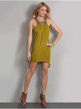 New York  & Company - View All - Beaded Sleeveless Tunic