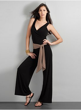 City Stretch Matte Jersey Jumpsuit