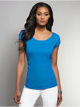 Side-Shirred Dolman Sleeve Top