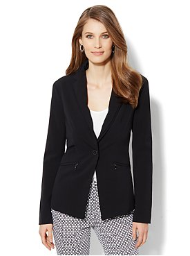 Crosby Street City Double Stretch Jacket - Black