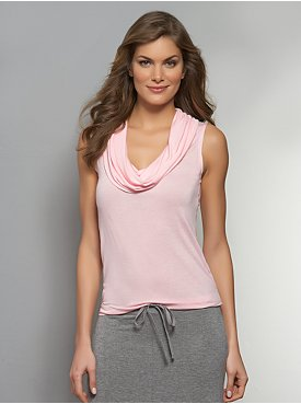 Love NY&C Collection - Solid Cowl-Neck Tank