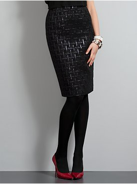 New York  & Company - Skirts - Metallic Brocade Pencil Skirt