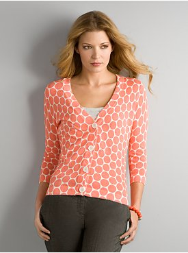New York & Company: City Style Dot Cardigan :  dot cardigan sweater cardigan
