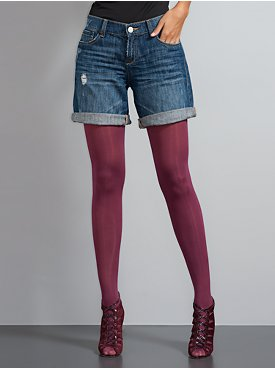 Denim Boyfriend Shorts, Hawthorn Wash