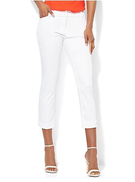 The 7th Avenue Sateen Straight Leg Crop - Printed