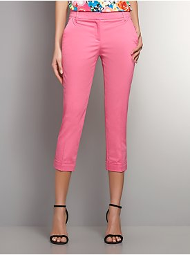 The Crosby Street Sateen Slim Leg Crop Pant