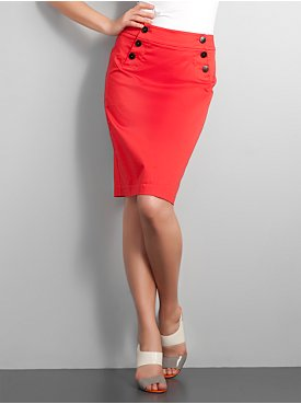 New York  & Company - Skirts - City Stretch Sailor Pencil Skirt :  pockets pencil skirt sailor nautical