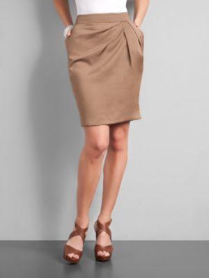 City Style Silky Pencil Skirt