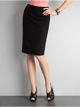 New York & Company: City Style High Waisted Pencil Skirt :  knee length new york and company retro pencil skirt