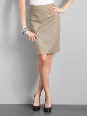 City Style Pencil Skirt - Toasted Taupe