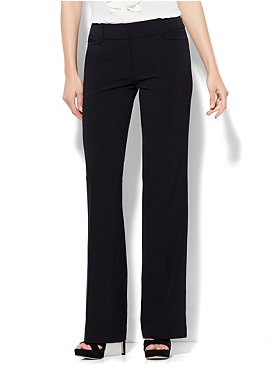 The 7th Avenue City Double Stretch Bootcut Pant - Black - Petite