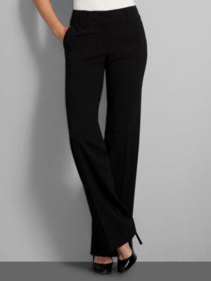 New York & Company Women's 7th Avenue City Stretch Straight Leg Pants - Average - Black, Cacao Bean Heather