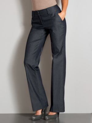 New York & Company Women's 7th Avenue Refined Denim Straight Leg Pants - Average - Heavenly Indigo