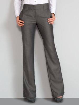 New York & Company Women's 7th Avenue Sharkskin Straight Leg Pants - Petite - Black