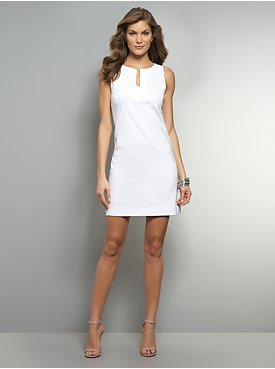 Split-Neck Sleeveless Dress