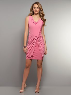 Sleeveless Twist-Front Dress