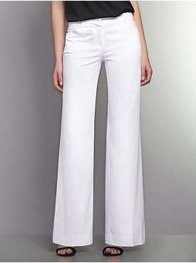 The 7th Avenue Sateen Wide Leg Pant - Optic White