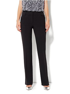 The Bleecker Street Double Stretch Straight Leg Pant- Petite