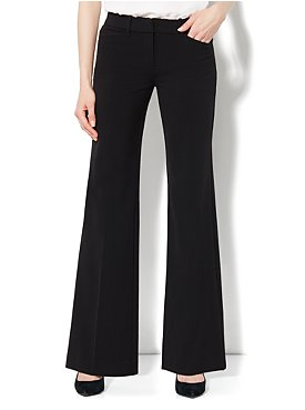 The 7th Avenue Double Stretch Wide Leg Pant - Average